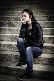Depressed Teenage Girl Stock Images