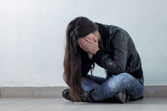 Depressed Teenage Girl Stock Photography