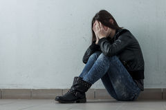 Depressed Teenage Girl Royalty Free Stock Photos