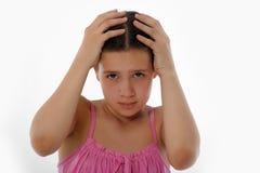 Depressed teenager girl Stock Photos
