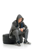 Depressed teenager Stock Images