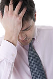 Depressed/Tired Businessman Stock Images