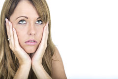 Depressed and Unhappy Young Woman Royalty Free Stock Photography