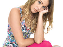 Depressed Upset Young Woman Royalty Free Stock Images