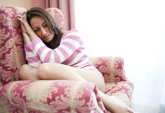 Depressed woman Stock Photos