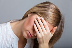 Depressed woman Royalty Free Stock Image