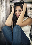 Depressed woman Royalty Free Stock Photos