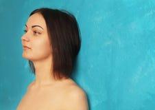 Depressed woman (body language, gestures, psychological portrait Royalty Free Stock Image