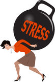Woman under stress Stock Image