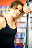Sad and desperate woman loosing diet battle Royalty Free Stock Photos