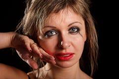 Depressed woman portrait Royalty Free Stock Photo