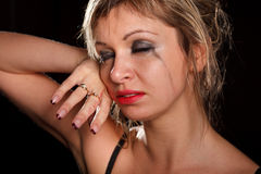 Depressed woman portrait Royalty Free Stock Image
