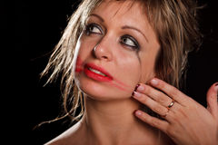 Depressed woman portrait Royalty Free Stock Images