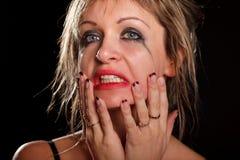 Depressed woman portrait Stock Photo