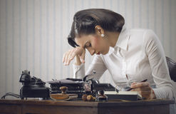 Stressed business woman Royalty Free Stock Images