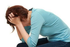 Depressed woman Royalty Free Stock Photos