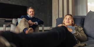 Female patient discussing her issues with psychologist royalty free stock photos