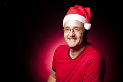 Depressed Xmas Man Royalty Free Stock Photos