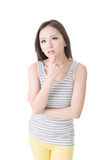Depressed young asian woman Stock Photo