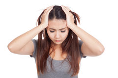 Depressed Young Asian woman Stock Images