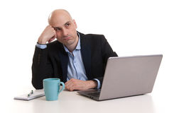 Depressed Young Businessman Stock Photography