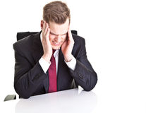 Depressed young businessman Royalty Free Stock Photos
