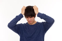 Depressed young man Stock Images