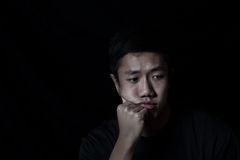 Depressed young man Stock Image