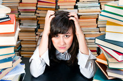 Depressed Young Student Royalty Free Stock Photography