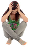 Depressed young woman Royalty Free Stock Photos