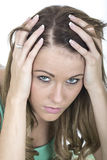 Depressed Young Woman in Despair Stock Image