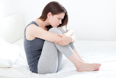 Depressed young woman Stock Images