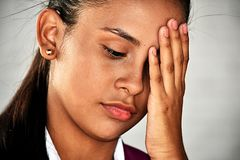 Depressed Youthful Colombian Person royalty free stock images