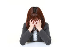 Depressed businesswoman Royalty Free Stock Images