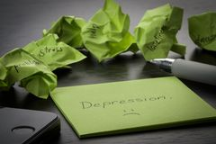 depressie   royalty-vrije stock afbeelding