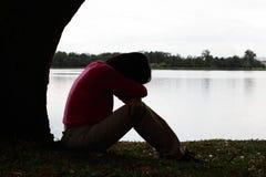 Depressie Stock Foto