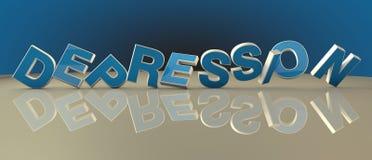Depressie 3d tekst Royalty-vrije Stock Afbeelding