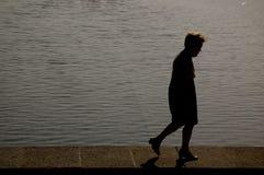 Depressie, eenzaamheid Stock Afbeelding