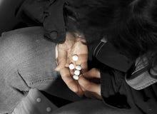 Depressie en drugs Stock Afbeelding