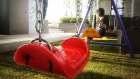 Depressie en eenzaamheid/speelplaats /garden royalty-vrije stock foto's