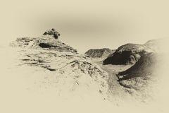 Depressie en leegte in zwart-wit stock foto