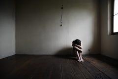 Depressie en Verdriet Stock Foto