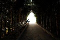 Depressie, tienerdepressie, pijn, het lijden, tunnel Royalty-vrije Stock Afbeeldingen