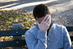 Depressie of wanhoop Stock Foto's