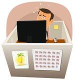 Depressieve Arbeider op het Werk stock illustratie