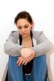 Depressieve vrouw Stock Foto