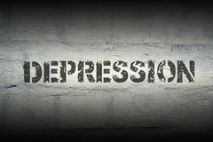 Depressieword gr. Stock Afbeeldingen