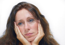 Depression. Woman with a depression stock image
