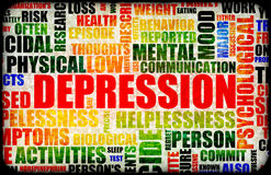 Depression. Severe Depression Medical Mental State Background Stock Photography