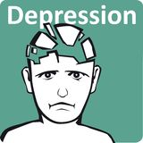 Depression. An illustration of depression mind Royalty Free Stock Images